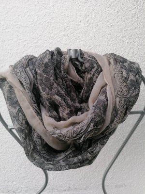 Tubesjaal zwart-grijs-bruin