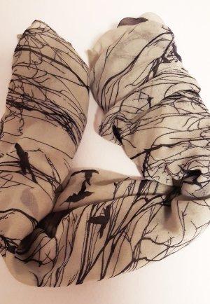 Écharpe d'été gris vert-noir polyester