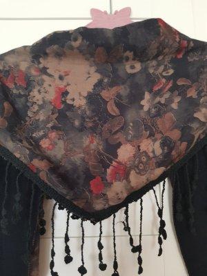 schönes Tuch/Schal mit Blumen und Beeren