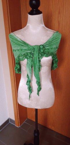 Tredy Sciarpa con frange verde