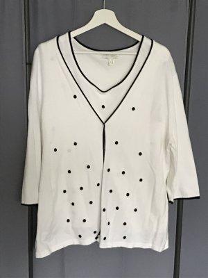 Creation L. Ensemble en tricot blanc-noir viscose