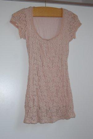 Promod Camicetta all'uncinetto rosa antico-rosa pallido