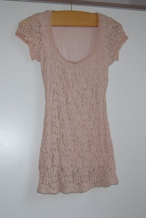 Promod Gehaakt shirt stoffig roze-rosé
