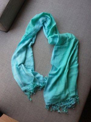 Bufanda de lana azul pálido-azul claro