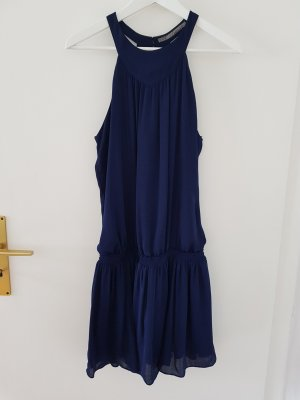 Zara Halter Dress dark blue