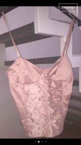 Zara Woman Haut bustier rose clair