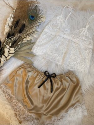 Babydoll Dress gold-colored-white