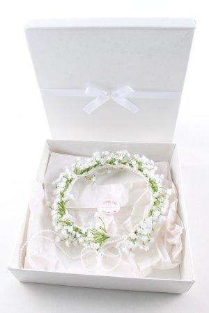 schöngemachtes Tocado blanco-verde estampado floral estilo extravagante