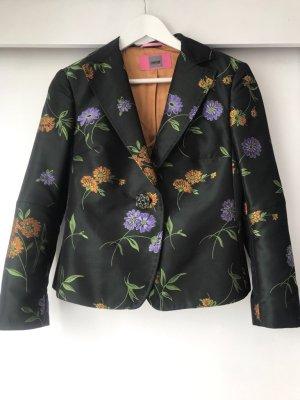 Schönste Jacke! Schwarzer taillierter Blazer floral bestrickt