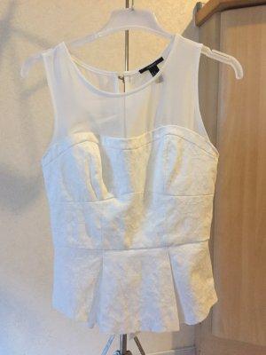 Schößchen-Bluse weiß