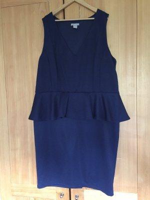 H&M Divided Peplum Dress dark blue