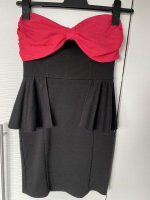 Schößchen Kleid schwarz pink