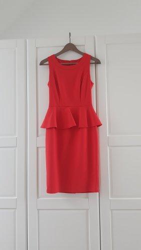 Orsay Vestido peplum rojo