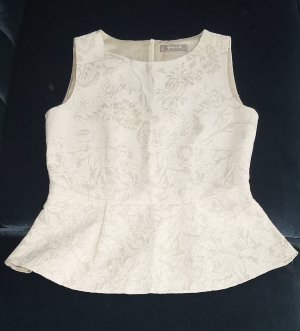 Donna by hallhuber Peplum Top gold-colored-cream