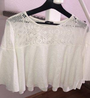 Zara Crochet Top white mixture fibre