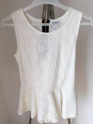 Vero Moda Top peplo bianco Tessuto misto