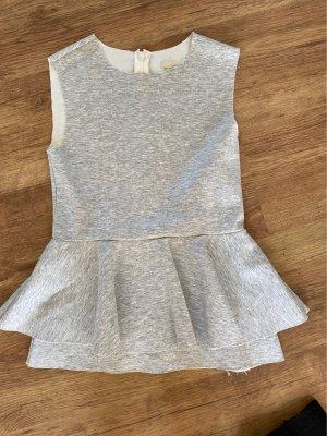 H&M Top peplum gris claro