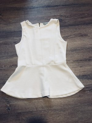 H&M Top peplo bianco
