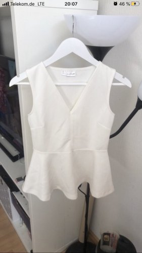 Bodyflirt Peplum Top natural white