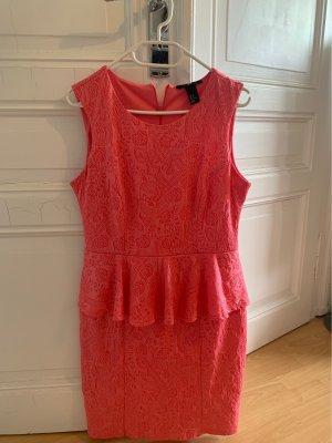 H&M Sukienka z baskinką łosowiowy
