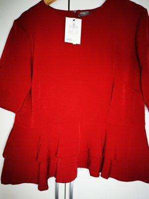 Asos Short Sleeved Blouse dark red