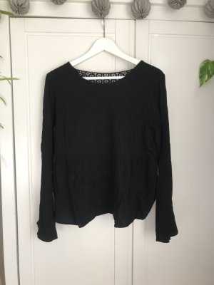 Trafaluc by Zara Top peplo nero Viscosa