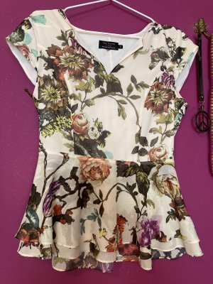 Ted baker Top peplo multicolore