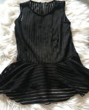 Zara Peplum top zwart
