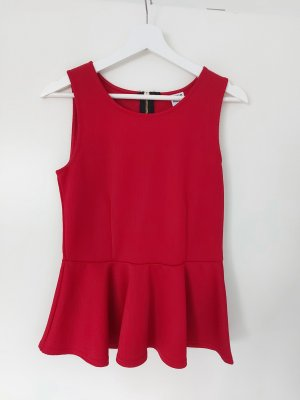 Vero Moda Peplum Top red