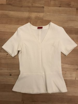 HUGO Hugo Boss Peplum Top white-natural white cotton