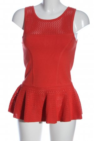 Milly Peplum Top red viscose