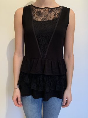 Miu Miu Peplum Top black