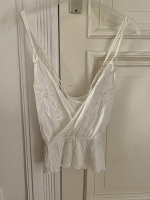 Urban Outfitters Top peplo bianco sporco