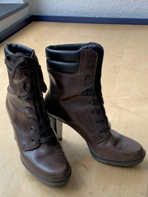 Tod's Lace-up Booties dark brown-black