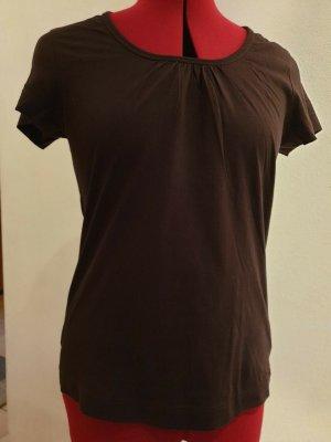 schoko-braunes Kurzarm-Shirt von S. Oliver