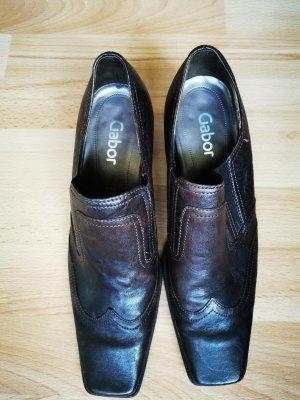 Gabor Chaussure à talons carrés brun foncé cuir
