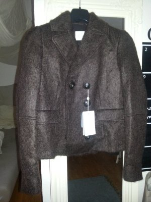 Elégance Paris Blazer de lana marrón-negro