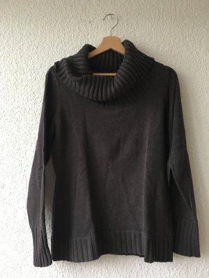 Esprit Turtleneck Sweater dark brown cotton