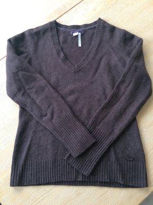 Schokobrauner Wolle - Pullover von Esprit