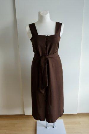 Schokobraunes Midi-Kleid