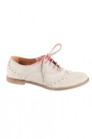 Scholl Wingtip Shoes natural white-brown casual look