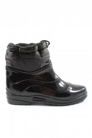 Scholl Wellies black wet-look