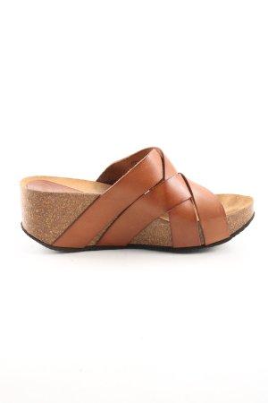 Scholl Plateauzool Sandalen met Hoge Hakken licht Oranje-brons