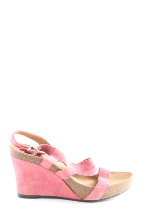 Scholl Wedge Sandals pink casual look