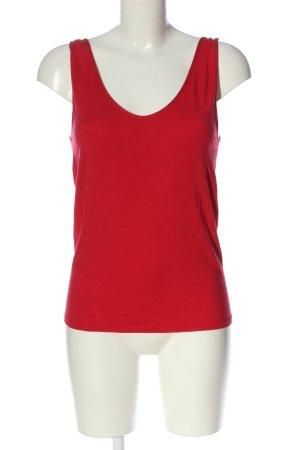 Scholler Camisole rouge torsades style décontracté