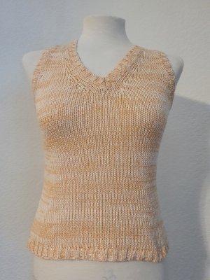 Crochet Top cream-nude