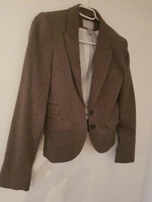 H&M Korte blazer grijs-bruin-donkerbruin
