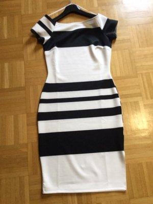 BODY FLIRT Sukienka etui czarny-w kolorze białej wełny Poliester