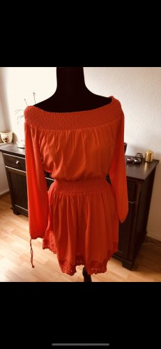 Abercrombie & Fitch Lace Dress salmon-apricot