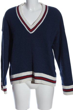School rag Maglione di lana motivo a righe stile casual